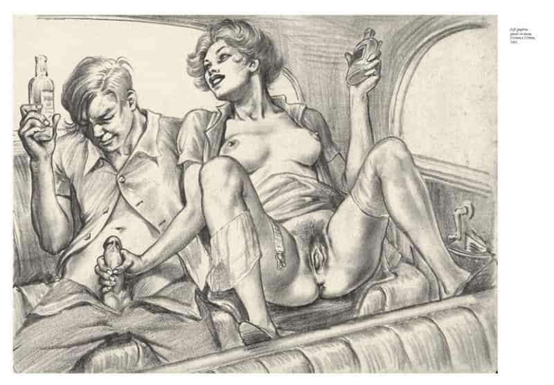 Tom Poulton ilustrando una escena