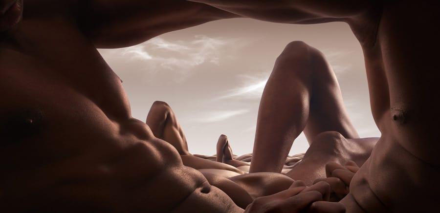 Carl Warner y su caverna abdómenes masculinos