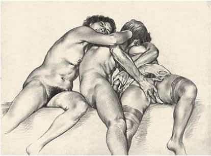 tom poulton y sus ilustraciones eróticas