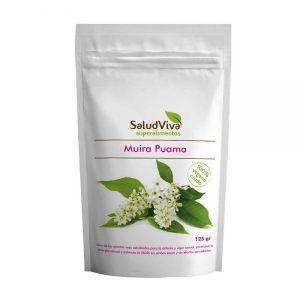 Afrodisíaco Muira Puama 100% vegano crudo en envase de 125gr de la marca ecológica Salud Viva