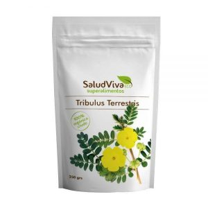 Envase de Tribulus terrestris de 250gr de la marca ecológica Salud Viva