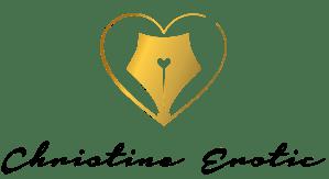 logotipo de Christine Erotic donde un corazón envuelve un plumín